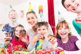 children cupcakes celebrating birthday on big with