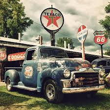 Vintage Ford Truck Art - north shore garage photograph by joel witmeyer