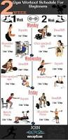 workout schedule for beginners