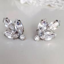 silver clip on earrings clip on earrings etsy