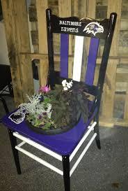 baltimore ravens chair planter rustic soul pinterest chair