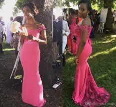 fitted bridesmaid dresses 2017 fuchsia lace mermaid bridesmaid dresses black