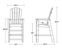 Polywood Syracuse South Beach Bar Chair