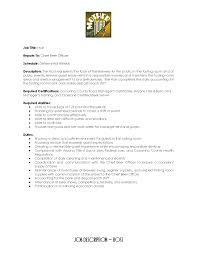 Food Service Job Description Resume by 100 Dining Room Attendant Job Description Housekeeping