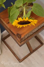 repurposed metal and wood side table h20bungalow