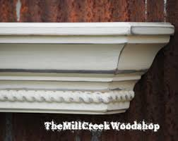 Distressed Wood Shelves by Wall Shelf 60 Distressed Wood Fireplace Mantel Crown