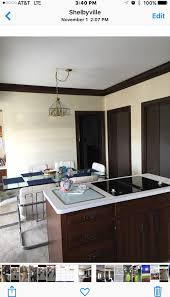 best wall color choice for kitchen with dark cherry cabinets and trim