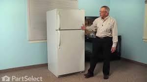 frigidaire glass door fridge refrigerator repair replacing the door shelf retainer bar