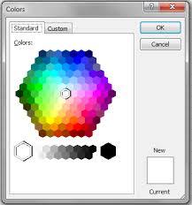 excel vba color dialog xldialogeditcolor vba and vb net