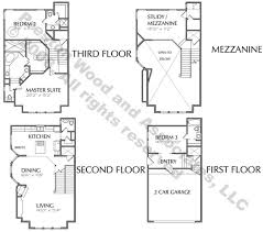 Luxury Townhomes Floor Plans Townhome Plan C8242