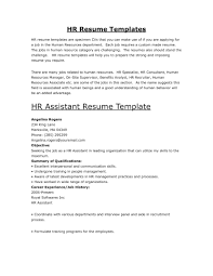 Hr Manager Resume Summary Cover Letter Sample Human Resources Assistant Resume Human