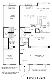 One Level Living Floor Plans The Enclave At Arundelpreserve Townhomes The Easton Home Design