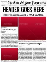 sample blank newspaper newspaper template templates memberpro co