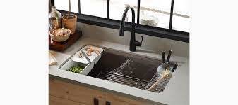 undermount kitchen sink with faucet holes standard plumbing supply product kohler k 5871 5ua3 96 riverby