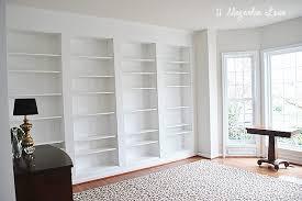 ikea billy bookcase hack diy built in custom bookshelves using ikea billy bookcases hack 11