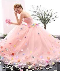 2016 charming royal pink princess cinderella ball gown wedding