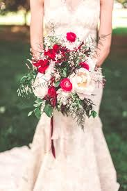 red and cream wedding bouquets red and cream rose wedding bouquet