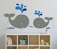 mom and baby whales wall decal zoom