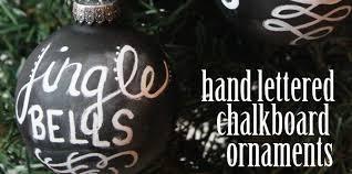lettered chalkboard ornaments design dazzle