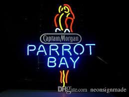 captain morgan neon bar light 2018 neon sign captain morgan parrot bay spiced rum real glass tube