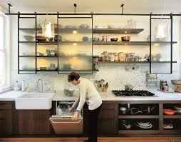 metal shelves for kitchen wall