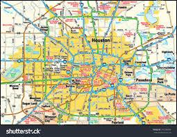 map of houston area houston area map stock vector 145248598 inside tx houston