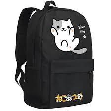 Backyard Cartoon Neko Atsume Cosplay Backpack Anime The Cat Backyard Cat Cartoon