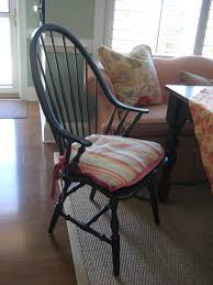 Custom Chair Cushions Design Make Your Chair A More Comfortable With Windsor Chair