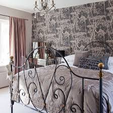 Dusty Pink Bedroom - romantic bedroom ideas feature wallpaper cow parsley and bedrooms