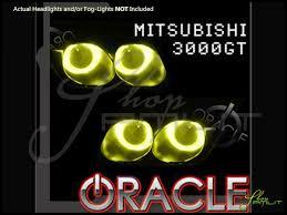 mitsubishi 3000gt yellow oracle 94 98 mitsubishi 3000gt ccfl halo rings headlights bulbs