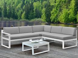 canape angle exterieur salon jardin palaos canapé angle relevable table gris
