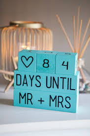 appropriate engagement party gifts learn how to make your own wedding countdown blocks