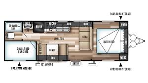 Bunkhouse Floor Plans by Forest River Wildwood X Lite 261bhxl Travel Trailer Sales