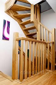 oak open riser attic stairs dublin oak open riser attic stairs ireland