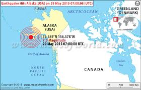alaska on map earthquakes in usa areas affected by earthquakes in usa