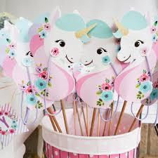 unicorn party supplies unicorn stick printable unicorn hobby unicorn