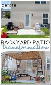 Patio Backyard Ideas Before And After Backyard Yard Makeover For The Home Pinterest