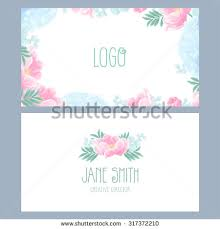 floral business card templates fashion cards stock vector