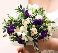 purple wedding bouquets purple wedding flowers lovetoknow