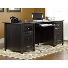 Black Corner Desk With Drawers Sauder Edge Water Estate Black Desk 409042 The Home Depot