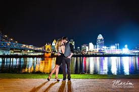 Wedding Photography Cincinnati Cincinnati Skyline Engagement Photography By Maxim Photo Studio
