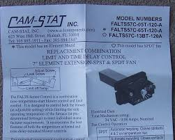 adjustable fan limit switch camstat combination fan and limit control with start delay falts57c
