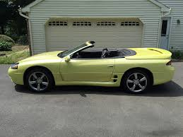 mitsubishi yellow 1995 mitsubishi 3000gt spyder vr4 martinique yellow pearl 3000gt