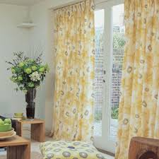 Curtains Floral Yellow Curtains With Multicolor And Flowers 02 Yellow Curtains