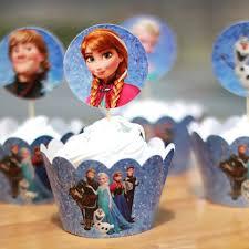 sale frozen party supplies elsa anna cupcake wrappers