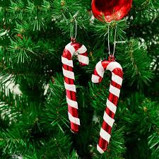 plastic candy canes wholesale 6pcs bag plastic candy ornaments christmas tree hanging