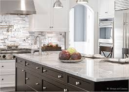 Carrara Marble Tile Backsplash With Black Cabinets  To Review - Backsplash with white cabinets