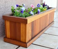 redwood flower planter box for windows balconies or decks rot