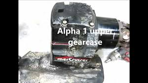 mercruiser alpha 1 upper gearcase repair oil seals and tools