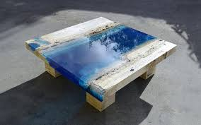 topography coffee table resin wood table a rectangular coffee table made from reclaimed